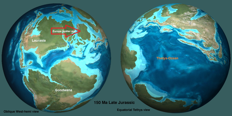 Jurassic Earth 150 MY