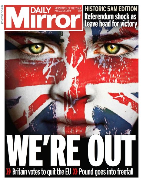 Daily Mirror/ Frontpage/ Brexit