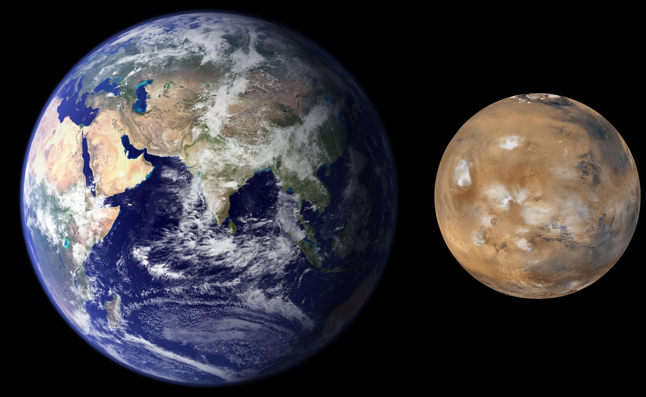 077-01 Erde und Mars