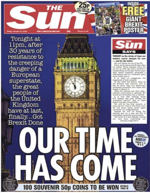Titelbild The Sun vom 31. Januar 2020